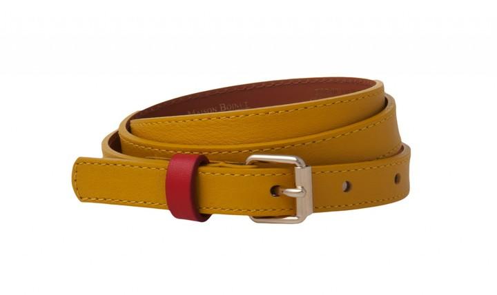Maison Boinet Contrast Loop Belt In Yellow