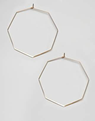 NY:LON octagonal hoop earrings
