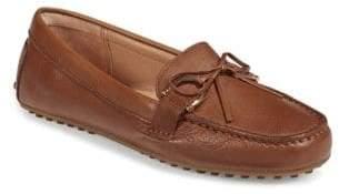 Lauren Ralph Lauren Womens Stirrup Trim Leather Loafers