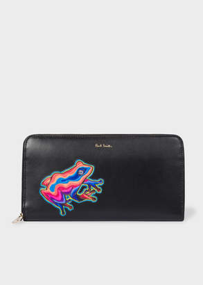 Paul Smith Women's Large 'Dreamer Frog' Applique Leather Zip-Around Wallet
