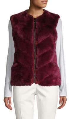 Reversible Dyed Rabbit Fur Vest