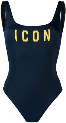 DSQUARED2 Icon slogan swimsuit