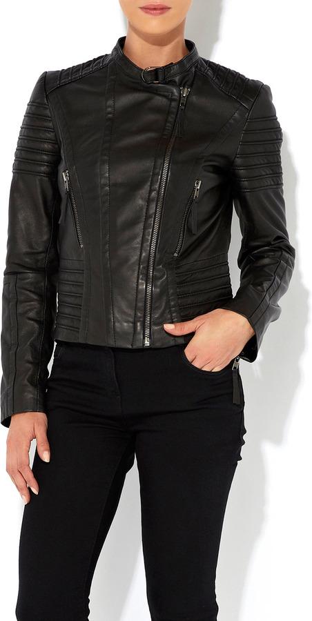 Wallis Black Leather Biker Jacket