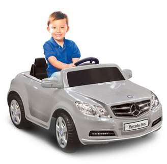 Kid Motorz Mercedes Benz E550 1-Seater 6-Volt Ride-On in Silver $170.99 thestylecure.com