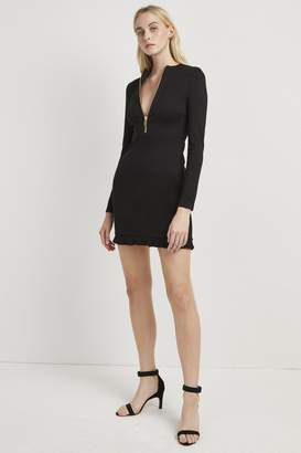 French Connection Teresa Ponte Jersey Zip Dress
