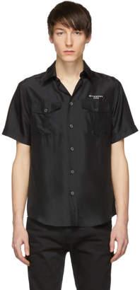 Givenchy Black Silk Short Sleeve Shirt