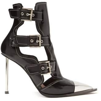 9e18d47613a Alexander McQueen Toe Cap Leather Boots - Womens - Black