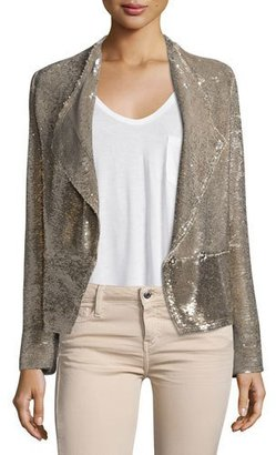 Iro Chill Sequin Double-Breasted Jacket, Gold $850 thestylecure.com