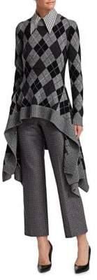 Michael Kors Cashmere Argyle Handkerchief Sweater