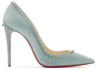 Christian Louboutin Blue Anjalina 100 Heels
