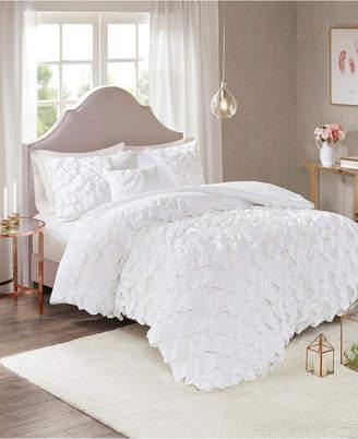 Octavia Jla Home Madison Park Full/Queen 4-Piece Ruffled Duvet Cover Set Bedding
