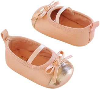 Baby Girl Carter's Metallic Toe Mary Jane Crib Shoes $17 thestylecure.com