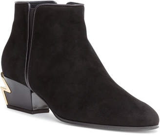 Giuseppe Zanotti G-Heel 40 black suede ankle boots