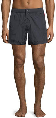 Moncler Swim Trunks w/ Logo Taping Sides, Navy