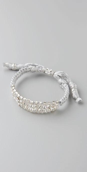 Shashi Metallic Double Row Crystal Bracelet