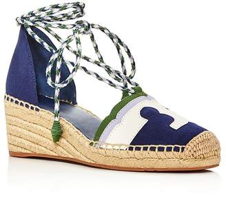 Tory Burch Laguna Lace Up Wedge Espadrilles $250 thestylecure.com