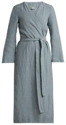 Once Milano - Bell Sleeve Linen Robe - Womens - Light Blue