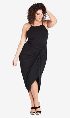 City Chic Citychic Athena Drape Dress