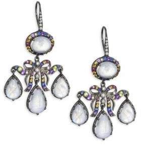 Holly Dyment 14K Black Gold Multi-Gemstone Chandelier Drop Earrings