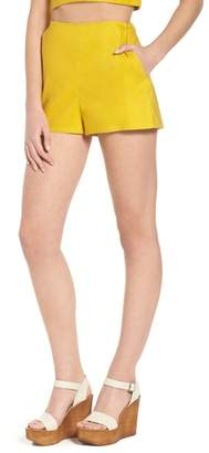 Leith High Waist Linen Blend Shorts