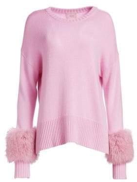 Cinq à Sept Fox Fur-Cuff Sweater