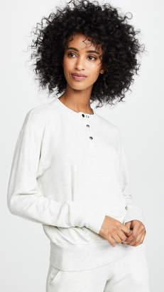 Monrow Supersoft Henley Sweatshirt