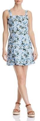 Aqua Tie-Back Tropical Print Dress - 100% Exclusive