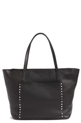 Rebecca Minkoff Unlined Front Pocket Leather Tote - Black $325 thestylecure.com