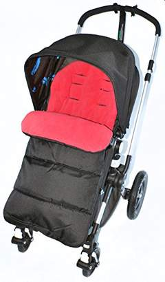 Bugaboo Footmuff/Cosy Toes Compatible with Pushchair Fire Red
