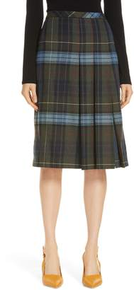 Nordstrom Signature Pleat Front Plaid Skirt