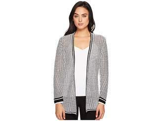 Nic+Zoe Striped Space Cardy Women's Sweater