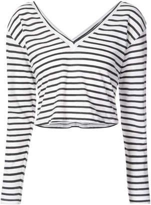 A.L.C. striped cropped T-shirt