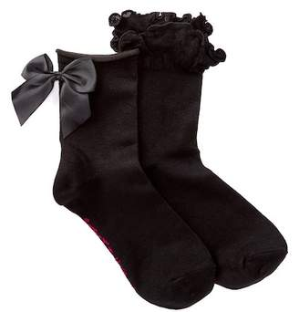Betsey Johnson Bow & Ruffle Ankle Socks - Pack of 2