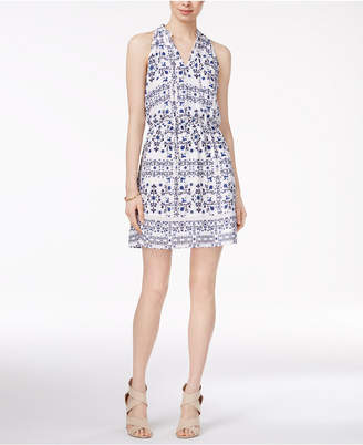 Maison Jules Printed Split-Neck Dress, Only at Macy's $89.50 thestylecure.com