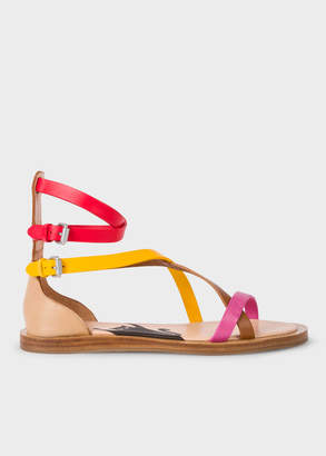 Paul Smith Women's Multi-Coloured Vachetta Leather 'Margie' Sandals