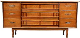 One Kings Lane Vintage 1960s Walnut Wood Low Dresser - 2-b-Modern