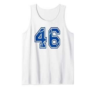 Baseball Number 46 Blue Sports Player Uniform Jersey Tank Top