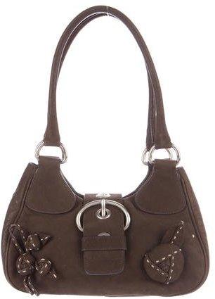 pradaPrada Nubuck Shoulder Bag