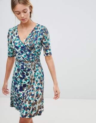 Gilli Floral Wrap Front Skater Dress
