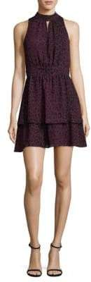 Parker Leopard Fit And Flare Dress