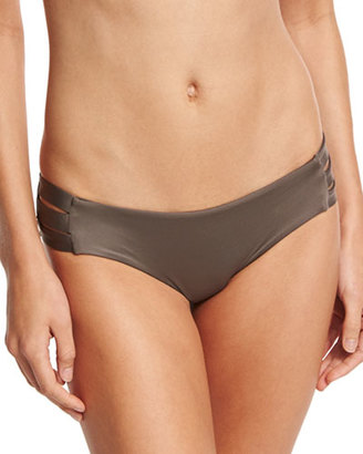 Vitamin A Emilia Strappy Swim Bottom, Taupe $99 thestylecure.com