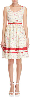 Yumi Beach Belted Fit & Flare Dress
