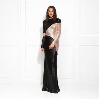 Rachel Zoe Genevieve Color Blocked Fluid Sequin Gown