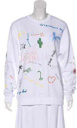 Zoe Karssen Graphic Print Long Sleeve Sweatshirt