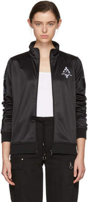 Marcelo Burlon County of Milan Black and White Kappa Edition Tape Track Jacket