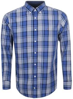 Tommy Hilfiger Midscale Check Shirt Blue