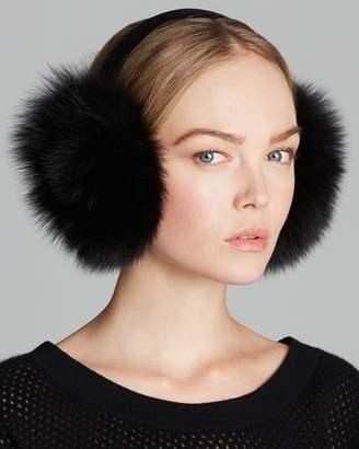 Maximilian Furs Maximilian Fox Earmuffs with Velvet Band