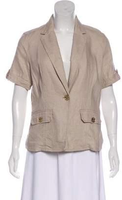 MICHAEL Michael Kors Short Sleeve Notch-Lapel Jacket
