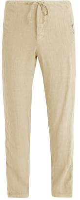 J.w.brine J.W. BRINE Drawstring-waist straight-leg linen trousers