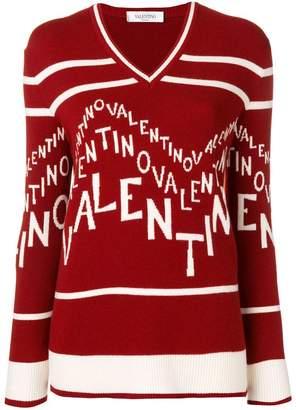 Valentino logo intarsia jumper